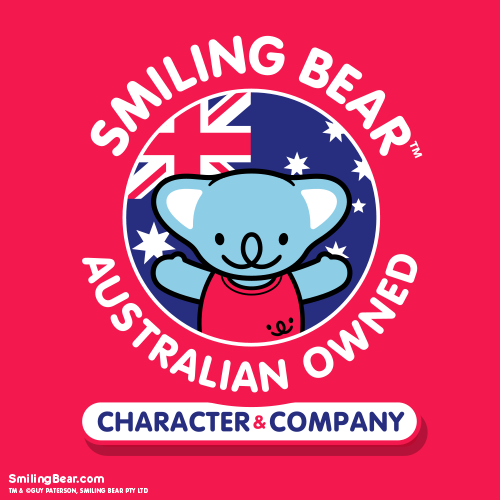 Koala Smiling Bear, with Australian Flag company logo