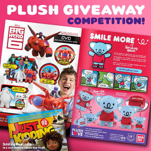 Koala soft toy giveaway competition from Smiling Bear in Just Kidding Magazine
