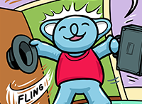 Koala cartoon, Smile More for Cat Capers – a webcomic from Smiling Bear